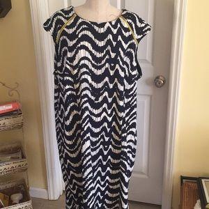 KSL Karin Stevens navy print dress size 22w